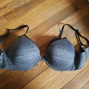 VS grey and black push up bra 36DD